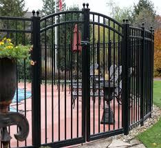 China Metal Gate Wrought Iron Fence Gate Security Fence Double Driveway Gate China Gate Security Door