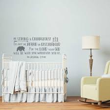 Bible Verse Wall Decals Nursery Joshua 1 9 Be Strong And Courageous Explorer Forest Wall Decal Vinyl Boys Kids Room Decor Z980 Wall Stickers Aliexpress