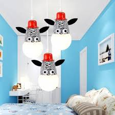 Zebra Monkey Giraffe Pendant Light Children Kids Bedroom Metal Single Head Suspended Light Beautifulhalo Com