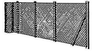 Chain Link Fencing Erecting The Straining Wires And Fencing
