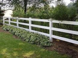 3 Rail Pvc Fencing
