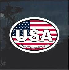 Usa Oval Color Window Decal Sticker Custom Sticker Shop