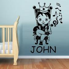Wall Decal Vinyl Decal Sticker Kids Baby Custom Name Prince Boy Little Stickersforlife