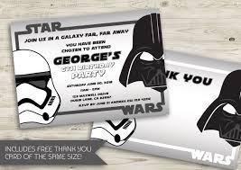 Star Wars Birthday Invitation Star Wars Star Wars Party Star