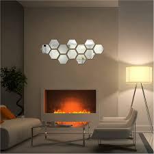 Diy 3d Home Mirror Hexagon Vinyl Removable Wall Sticker Decal Art Bedroom Living Room Home Decor In 2020 Mirror Wall Decor Living Room Murals Rooms Home Decor