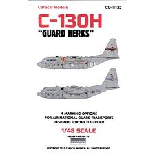 Carcd48122 1 48 Caracal Models Decals C 130h Hercules Guard Herks Waterslide Decal Sheet Walmart Com Walmart Com