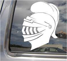 Amazon Com Right Now Decals Knight Helmet W Plume 2 Medieval Dark Middle Ages Crusades Cars Trucks Moped Helmet Hard Hat Auto Automotive Craft Laptop Vinyl Decal Store Window Wall Sticker
