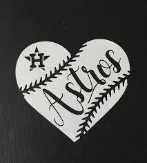 Huston Astros Baseball Heart Vinyl Car Decal Bumper Sticker By Getblasteddesigns On Etsy Astros Baseball Houston Astros Shirts Astros