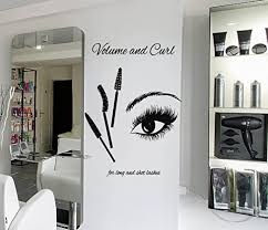 Amazon Com Stickersforlife Eyelashes Lashes Wall Decal Eyelashes Mascara Wall Sticker Eye Eyebrows Wall Decor Beauty Salon Decor Make Up Room Wall Decor Art Se127 Home Kitchen