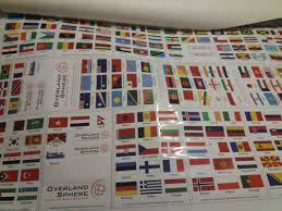 Overlanding Country Flag Stickers And Decals Overland Stickers