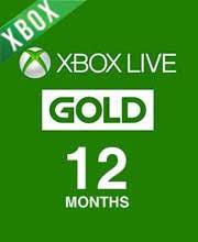 xbox live gold membership 12 months
