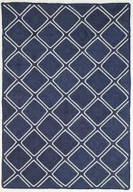 Navy Parquetry Weave Artisan Contemporary Rug Freedom Rugs