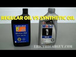 regular oil vs synthetic oil