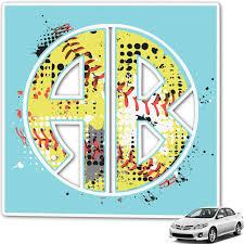 Amazon Com Youcustomizeit Softball Monogram Car Decal Personalized Automotive