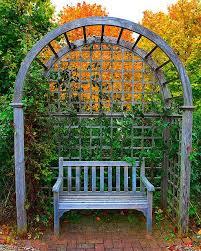 garden bench with images garden