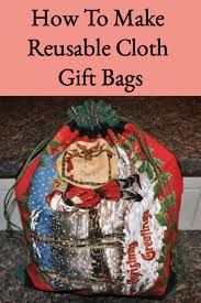 easy sew green gift bags or reusable