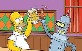 beers futurama bender homer simpson the