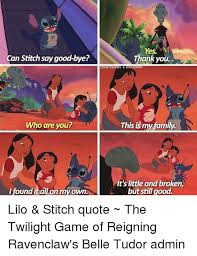yes can stitch say good bye thank you diaries disney who are you