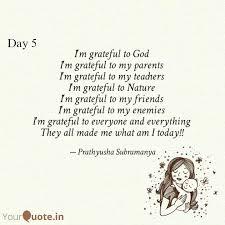 i m grateful to god i m quotes writings by prathyusha