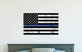 Amazon Com Gt Graphics Thin Blue Line Flag Support Police Usa Flag Wall Decal Wall Decoration Sticker Sports Outdoors