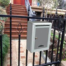 Homyl1 Modern Style Mailbox With Lock Outdoor Newspaper Box For Villa Home Fence Shopee Philippines