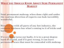 should know about semi permanent makeup