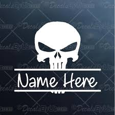 Punisher Skull With Name Decal Punisher Skull With Name Car Sticker Lowest Prices