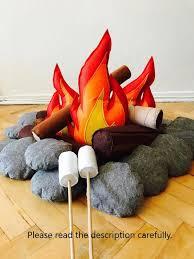 Felt Campfirecampfire Toyskids Campingfelt Toys Camping Etsy