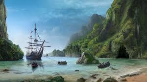 sunken pirate ship wallpaper
