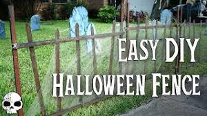 Diy Halloween Props Super Easy Cemetery Fence Youtube
