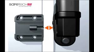 Magnetic Pool Gate Latches From Safetech Hardware Youtube