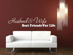 Husband And Wife Best Friends For Life Vinyl Decal Wall Art Mural Decor Sticker Home Garden Children S Bedroom Words Phrases Decals Stickers Vinyl Art