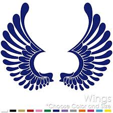 Amazon Com Left And Right Tribal Angel Wings Vinyl Decal Sticker Aw 01 Handmade