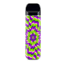 Skin Decals For Smok Novo Pod Vape Purple Green Hippy Trippy Psychedelic Motion Swirl Itsaskin Com