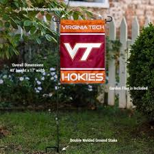 virginia tech hokies garden flag and