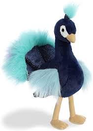 Aurora Perry Peacock Flopsie Plush Stuffed Animal 12