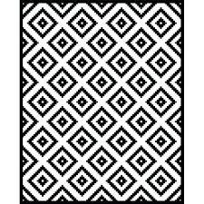 black and white geometric rug diyetim co