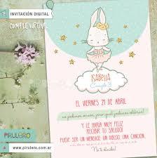 Invitaciones Digitales Conejita Bailarina
