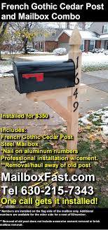 Premium Cedar Post And Mailbox Packages Mailbox Fast Mailbox Installer In Naperville