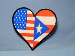 Usa Puerto Rico Flag Heart Vinyl Window Car Tattoo Decal Sticker 1 Ebay
