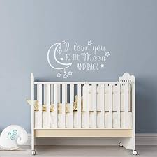 Amazon Com Wonderwallzstore Nursery Wall Decal I Love You To The Moon And Back Star Wall Decal Moon Wall Decal Baby Wall Decor Kids Wall Decal Above Crib Decor