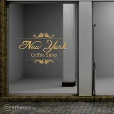 Ny Coffee Shop Decal Js Typography