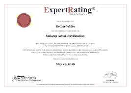 makeup artistry certificate