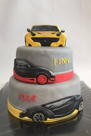Lamborghini Ferrari Bugatti Veyron Birthday Cake Pastel De