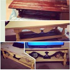 coffee table i turned into a tv stand