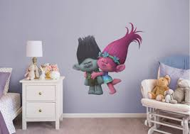 Girls Bedroom Ideas Trolls Movie Poppy And Branch Wall Decals These Guys Are So Cute Visit Us And Follow Us On Pinterest Girls Bedroom Girl Room Home Decor