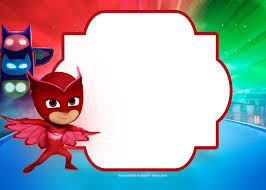 9 Free Pj Masks Birthday Invitation Templates Updated Crear