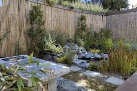 Bamboo Walls Fences Rocks Plants Green Backyard Landscaping Bamboo Garden Fences Asian Landscape