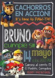 Invitacion Paw Patrol Invitaciones Personalizadas Las