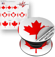 Decal Style Vinyl Skin Wrap 3 Pack For Popsockets Canadian Canada Flag Popsocket Not Included By Wraptorskinz Walmart Com Walmart Com